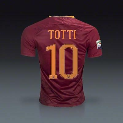 AS ROMA Home Soccer Jersey 10# TOTTI MEDIUM size