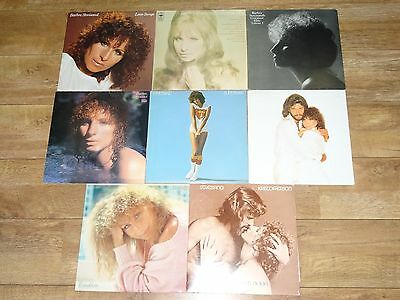 "Barbra Streisand Joblot Of 8 Vinyl 12"" Lp'S - All Ex To Near Mint Condition!!!"
