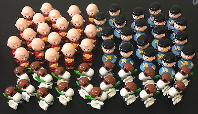 60 Vintage Peanuts Pocket Dolls Charlie Brown Lucy Snoopy - United Feature 1950s