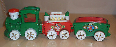 Fisher Price Press and Go Christmas Train ONLY No Peek-A-Blocks WORKS