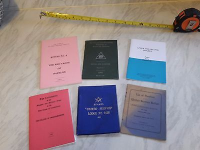Selection of 6 Masonic Booklets