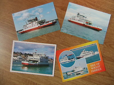 Red Funnel Ferries Red Falcon Wightlink Multicard Ferry Postcards