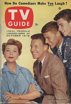 1956 TV Guide The Nelson Family October 13-19 NO LABEL!