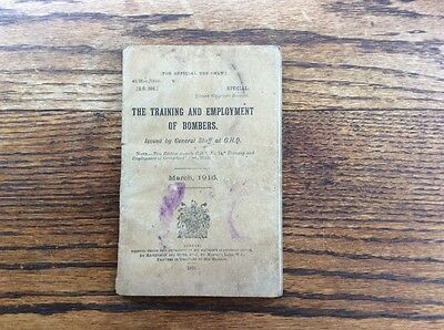 """WW1 Handbook """"The Training & Employment Of Bombers"""" S.S.398 1916 With 21 Plates"""
