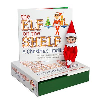 NEW Elf on the Shelf A Christmas Tradition Blue Eye LIGHT SKIN GIRL FREE SHIP