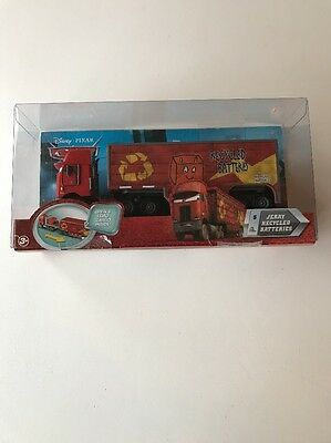 Disney Pixar Cars Jerry Recycled Batteries Hauler Truck Never Been Out Of Box