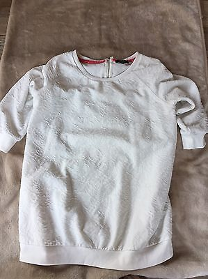 New Look Maternity White Jumper Top Size 18