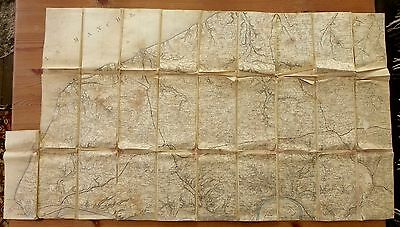 World War One Map Of The Area Around Le Havre France. Carte De Guerre 1914-18