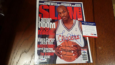 Lamar Odom Signed Autographed Slam Magazine Cover Clippers W/ PSA COA **COOL**