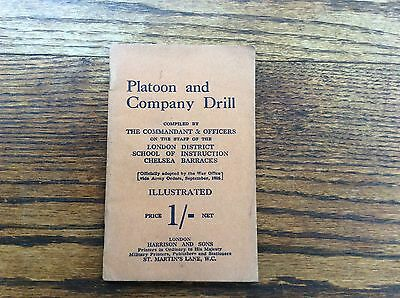 "WW1 Handbook ""Platoon and Company Drill"" 1916"