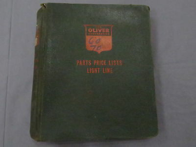 original Oliver 1250 & 1250-A Tractor Parts Catalogs Lot of 2 in Binder