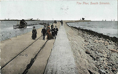 RP Card THE PIER SOUTH SHIELDS - Valentine's Card - Posted 1912