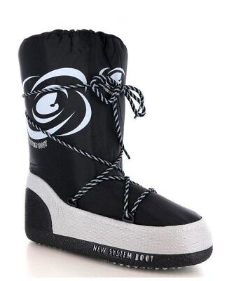 Doposci Moon Boot Uomo Donna New System Boot Made in Italy col nero