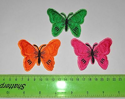 3x Applique Repair Sewing Iron on Patch Craft Ornament butterfly  Badge