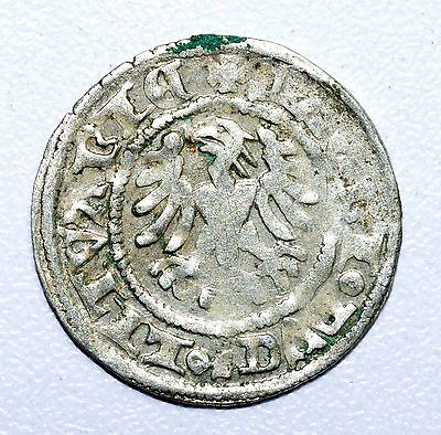 Rare Medieval Hammered Silver Coin Depicting Knight On Horse And Eagle - Z12