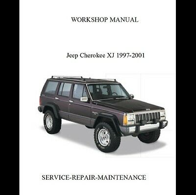 New Jeep Cherokee Xj 1997 1998 1999 2000 2001 Official Workshop Service  Manual