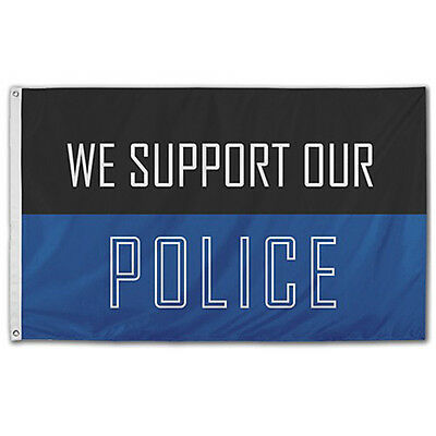 3x5 We Support Our Police Flag Made In The USA From SolarMax 200 Denier Nylon