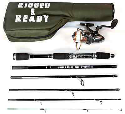 The World Traveller Fishing Rod, Reel And Case Combination By Rigged And Ready