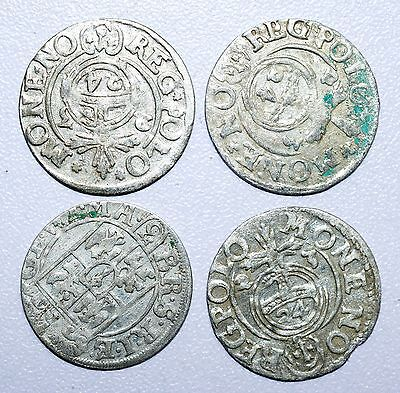Rare Lot Of 4 Medieval Silver Hammered Coins - Great Details - Z17