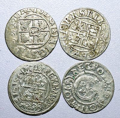 Rare Lot Of 4 Medieval Silver Hammered Coins - Great Details - Z20