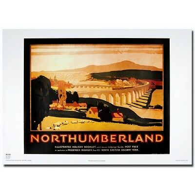 Northumberland 50x70cm Railway transport advertisment reproduction Poster NEW