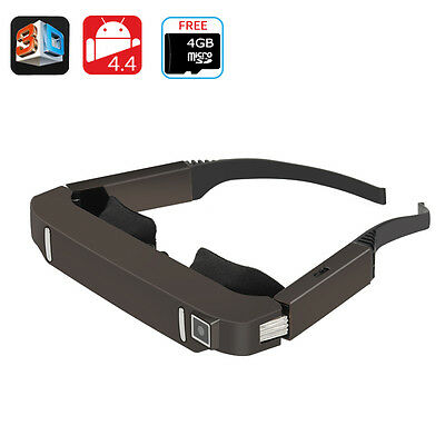 3D Video Glasses - Android 4.4, Side By Side Video, 5MP Camera, 1080p Support, B