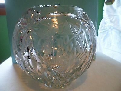 Cut Crystal Rose bowl vase