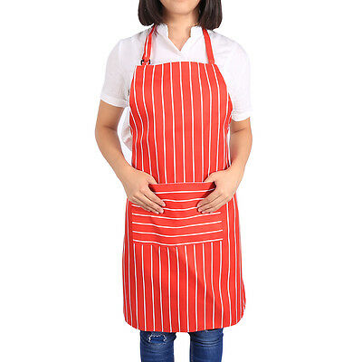 Women Practical Kitchen Restaurant Chef Cooking Aprons Dress With Pockets SS