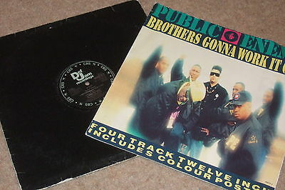 Public Enemy – Brothers Gonna Work It Out   1990   INCLUDES POSTER!!