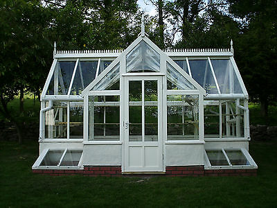Timber & brick base Greenhouse 3x5m with porch & cold frames