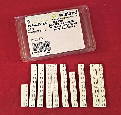 Wieland 04.846.0153.0 Terminal Block Markers - Partial Box
