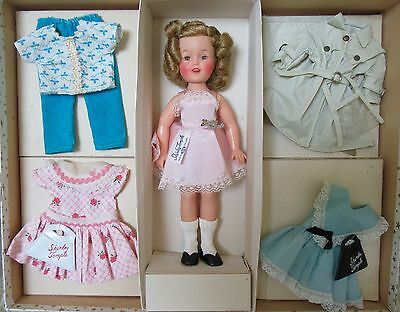 """Vintage 1950s Ideal Gold Star 12"""" Vinyl Shirley Temple Doll Gift Set - EXCELLENT"""