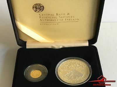 "Irish Coins. Skellig Michael Monastic Island - Gold/silver 2 Coin ""proof"". 2008"