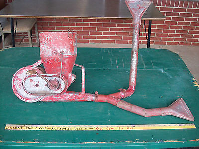 antique metal rotary hand crop vegetable garden farm fan duster poison insect
