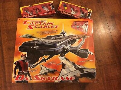 Gerry Andersons Captain Scarlet Skybase & 6 Mini Vehicles Fab Christmas Present