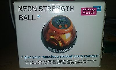 Neon strength ball from science museum
