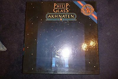 PHILIP GLASS - TRILOGY LP Akhnaten Boxed set with booklet