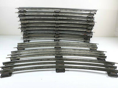 French Hornby O Gauge Curved Track - 12 pieces sloping sleepers