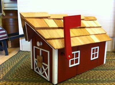 Amish Crafted Red Barn Style Mailbox - Lancaster County PA