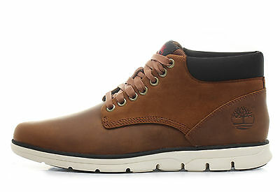 Scarpe Uomo Timberland Brandstreet Chukka Leather Brown Nuovo A13EE
