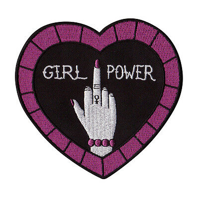 Girlpower feminist punk iron-on embroidered patch - FREE Australian postage