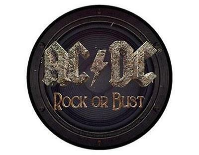 AC/DC - ROCK OR BUST  - WOVEN SEW ON PATCH - free shipping