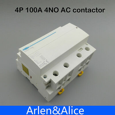 TOCT1 4P 100A 4NO 230V 50/60HZ Din rail Household ac contactor