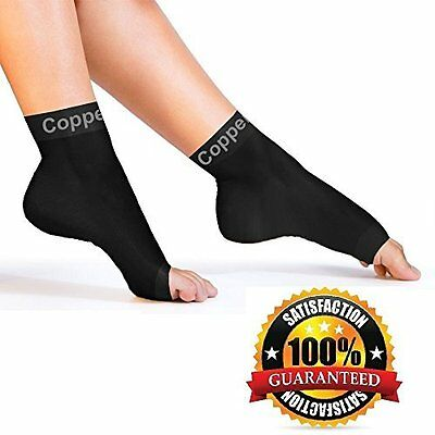 Copper Compression Recovery Foot Sleeves / Plantar Fasciitis Support Socks, #1 &