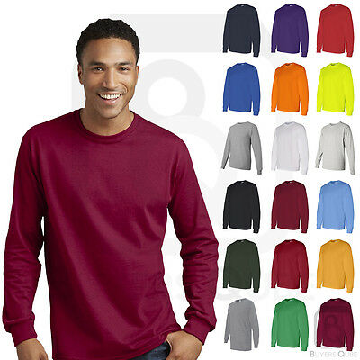 Gildan Mens Heavy Cotton Long Sleeve Crewneck Tee T-Shirt S-3XL - 5400