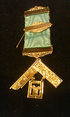 Masonic Past Master Breast Jewel - Engraved 3 Bar sections
