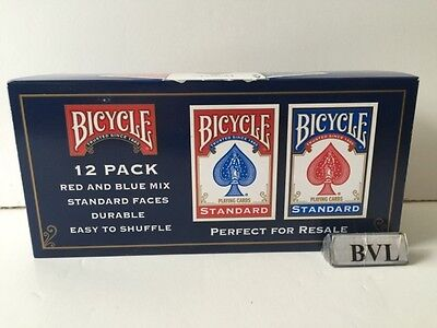 Bicycle Playing Cards 12 Pack Red/blue Mix