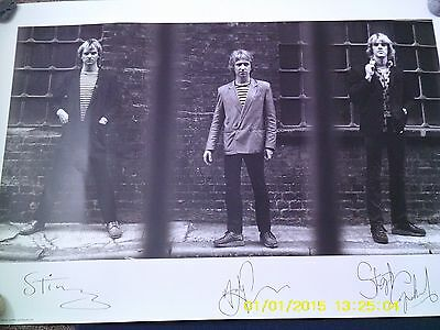 Large Poster Of The Police  Signed Pre Printed 2007