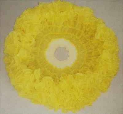 Vintage '50s JAPAN YELLOW CRYSTAL Rockabilly SLIP Xtra-FULL PETTICOAT Line Dance