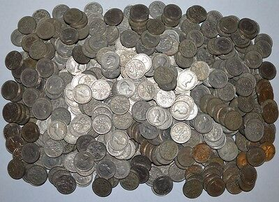 Old 'lucky' Sixpence coins - various dates post 1947 to 1971 - great gift/favour
